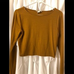 Forever 21 Long-sleeved Crop Top